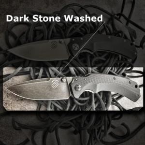 Bastinelli Knives Red Folder – Dark Stone Washed