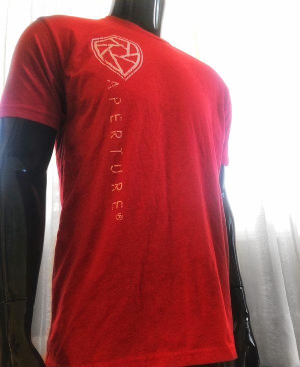 Aperture Mens Crew Neck Red T-Shirt